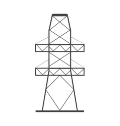 Electricity tower icon vector