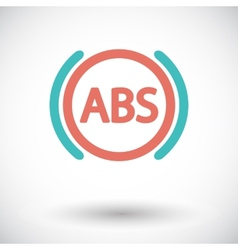 Abs flat single color icon vector