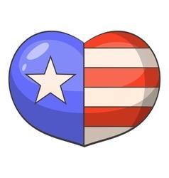 American heart icon cartoon style vector image vector image