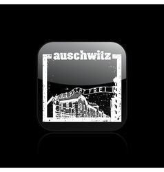 auschwitz icon vector image vector image