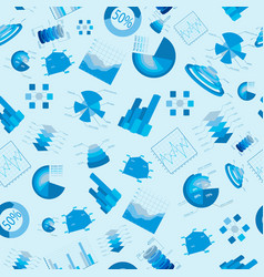 Blue diagramms seamless pattern vector
