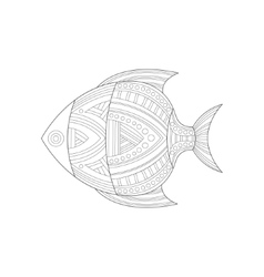 Cool Tropical Fish Sea Underwater Nature Adult vector image vector image