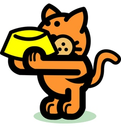 Fun cartoon cat vector