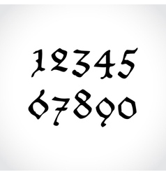 Ghotic numbers vector image vector image