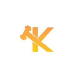 Global online auction letter k vector