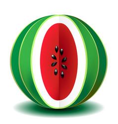 juicy watermelon vector image vector image