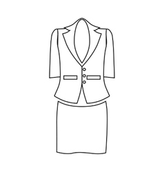 Ladies suit for business women icon outline style vector