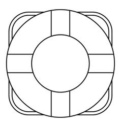 Lifeline icon outline style vector