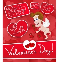 Love cupid Valentine s Day vector image vector image