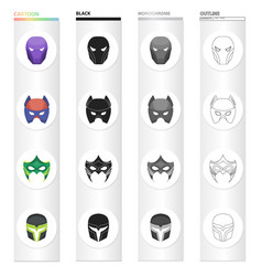 Mask cinematography cartoons and other web icon vector