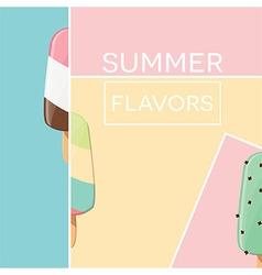 Modern typographic summer poster design vector