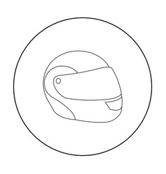 Motorcycle helmet icon outline single sport icon vector
