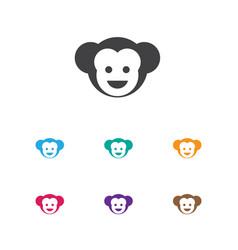 of zoology symbol on monkey vector image