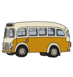 Old yellow bus vector