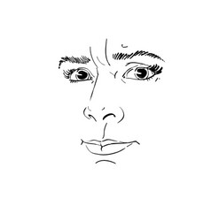 portrait of irate woman of vector image vector image
