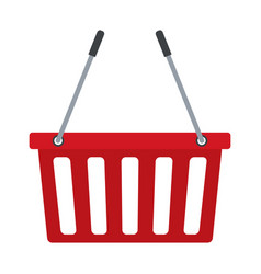 Red basket shopping empty market commerce business vector