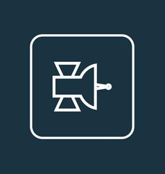satellite outline symbol premium quality isolated vector image