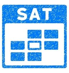 Saturday calendar grid grainy texture icon vector