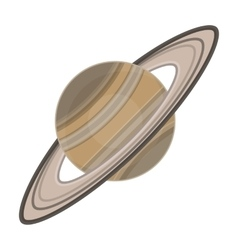 Saturn icon in cartoon style isolated on white vector image