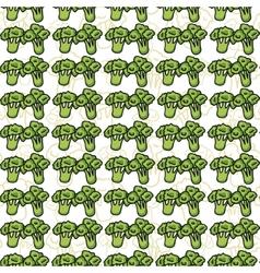 seamless pattern of sketch broccoli Beautiful vector image
