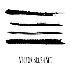 Set of four grunge brushes vector image