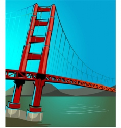 st Francisco bridge vector image