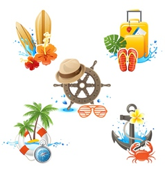 travelling logos vector image vector image