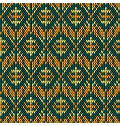 knitting fabric vector image