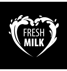 logo milk vector image