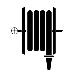 Silhouette fire hose holding wall vector