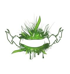 Green Leaf Ribbon Design vector image