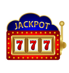 Jackpot on a slot machine vector