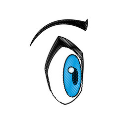 cartoon eye expression emotion image vector image