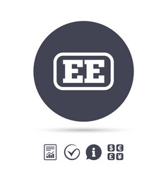 Estonian language sign icon ee translation vector