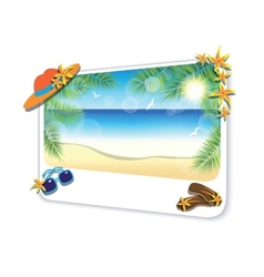 Picture of the sand beach landscape on white vector