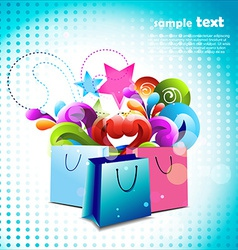 colorful bags vector image