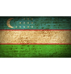 Flags uzbekistan with dirty paper texture vector