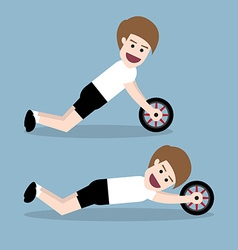 Ab wheel training vector