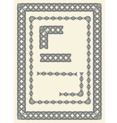 frame and border elements vector image