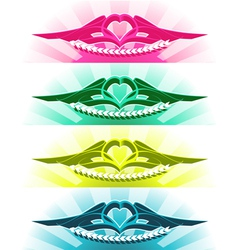 tattoo with heart vector image