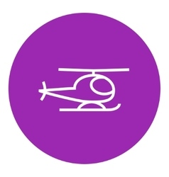 Helicopter line icon vector