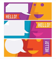 communication banners vector image
