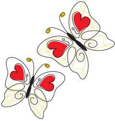 Heart butterfly vector