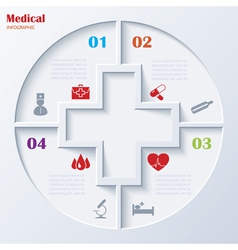 Abstract concept of medicine with medical and heal vector
