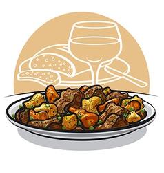 Beef stew vector