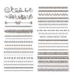 borders and dividers hand drawn frames vector image vector image