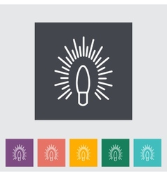 Bulb flat icon vector image vector image