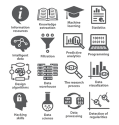 Business management icons Pack 17 vector image