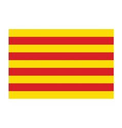 Catalonia flag vector