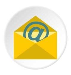 E-mail icon flat style vector